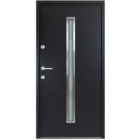 vidaXL Aluminium Front Door Anthracite 90x200 cm - Anthracite