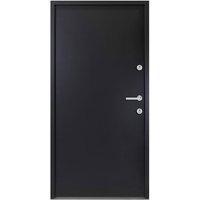 Aluminium Front Door Anthracite 90x200 cm - Anthracite - Vidaxl
