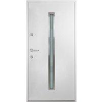 vidaXL Aluminium Front Door White 100x200 cm - White