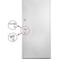 Aluminium Front Door White 100x200 cm - White - Vidaxl