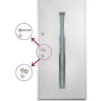 vidaXL Aluminium Front Door White 110x207.5 cm - White