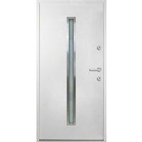 vidaXL Aluminium Front Door White 90x200 cm - White
