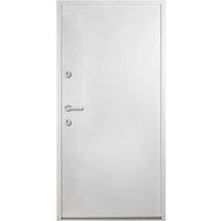 Aluminium Front Door White 90x200 cm - White - Vidaxl
