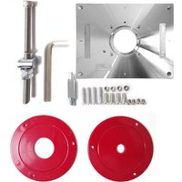 Aluminum Alloy Router Table Insert Plate Trimmer Engraving Machine Tool Red