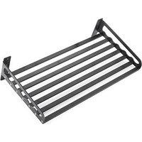 Aluminum Microwave Oven Shelf Wall-Mounted Kitchen Rack black 50x40CM