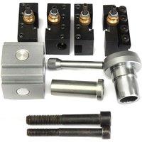 Mini Quick Change Tool Post Holder Kit Set for 7 x10 12 14 Multifix Toolholder