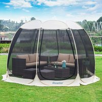 Screen House Pop Up Gazebo, 8-10 Person Instant Mosquito Netting Camping Dome Tent, UV Resistant Event Shelter Canopy Tent for Garden, Patio,