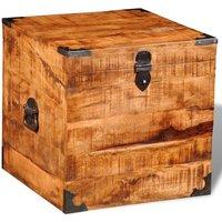Alves Cubic Rough Mango Wood Storage Chest by Bloomsbury Market - Brown