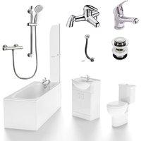 Amber Complete Bathroom Set including Bath Shower Tap and Basin Taps