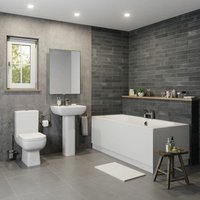 Amelie Bathroom Suite - Double Ended Bath - AFFINE