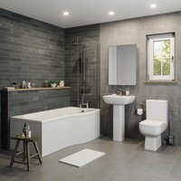 Affine - Amelie P Bathroom Suite with Right Hand Bath