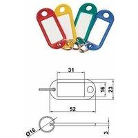 Portaetiqueta 80 Plastico 31*23 Colores Surtidos