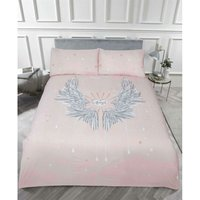 Rapport - Angel Wings Glitter Single Duvet Quilt Cover Bedding Set Blush Pink