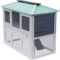 Animal Rabbit Cage Double Floor Wood - YOUTHUP