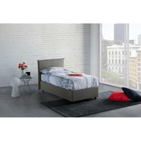 Anna Single Bed Container with Removable Front Opening Made in Italy Grey - TALAMO ITALIA