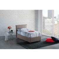 Anna Single Bed with Removable Front Opening Made in Italy Turtledove - TALAMO ITALIA