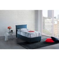Single Bed Container with Removable Side Opening Anna Made in Italy Blue - TALAMO ITALIA