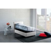 Anna Single Bed Container with Removable Side Opening Made in Italy White - TALAMO ITALIA