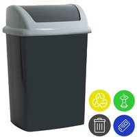 Monzana Trash Can With Lid Incl. 4 Waste Separation Stickers