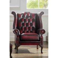 Antique Chesterfield Queen Anne Wing Chair | DesignerSofas4U