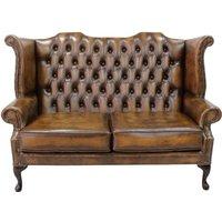 Designer Sofas 4 U - Antique Tan Chesterfield 2.5 Seater High Back chair | DesignerSofas4U