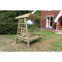 Antoinette Garden Swing Seat - Seats Two, wooden garden swinging seat hammock - CHURNET VALLEY