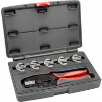 AV-CRMPKIT Professional Quick Interchangeable Ratchet Crimp Tool Set 7pc - Anvil