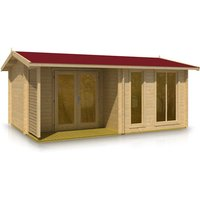 Timber Garden Trade - Apex Style Log Cabin 3.8m x 5.3m x 44mm