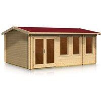 Timber Garden Trade - Apex Style Log Cabin 4.0m x 5.2m x 44mm
