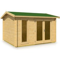 Timber Garden Trade - Apex Style Roof Log Cabin 3.66m x 3.16m x 44mm