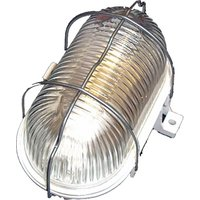 Aplique Iluminacion Blanco Pvc Exterior Oval
