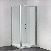 April Identiti2 Bi-Fold Shower Door 1200mm Wide - 6mm Glass