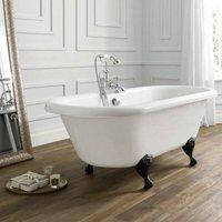 April Skipton Traditional Freestanding Bath 1700mm x 750mm - Acrylic