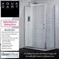 Aquadart Venturi 6 1100mm slider Door - NESHOME