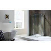 Frontline Bathrooms - Aquaglass+ Frameless Lh One Door Offset Quadrant 8mm 1200x800mm
