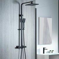 Aqualisa Showers - Aqualisa Deco Thermostatic Mixer Shower Square Bar Valve Black DECO.SQR.SC.MB