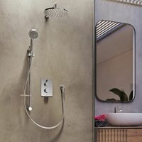 Aqualisa Dream Bathroom Thermostatic Concealed Mixer Shower Round Twin Head Set