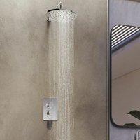 Aqualisa Dream Thermostatic Mixer Shower Valve Wall Fixed Rainfall Round Head