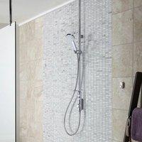 Aqualisa Showers - Aqualisa iSystem Smart Shower Exposed Valve Adjustable Single Head Gravity Pump