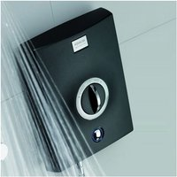 Quartz 9.5kW Electric Shower with Adjustable Height Head Chrome / Graphite - Aqualisa