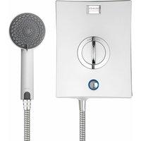 Aqualisa Quartz Electric Shower 8.5kW White and Chrome