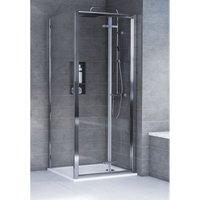 HD8 KIT 8mm Bifold Door + Side Panel 900 x 900mm - Aqualux