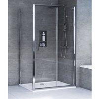 HD8 KIT 8mm Sliding Door + Side Panel + Tray + Waste 1400 x 900mm - Aqualux