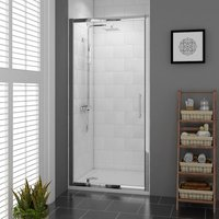 Aquariss 900mm Pivot Door Shower Enclosure with Easy Clean Glass