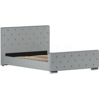 Arabella Double Bed, Light Grey Linen - HOME DISCOUNT