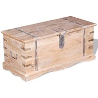 Arango Acacia Wood Storage Chest by Bloomsbury Market - Brown