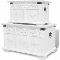 Arbogast 2 Piece Storage Chest Set by Bloomsbury Market - White