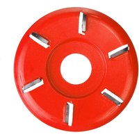 ARC Six-tooth Wood Carving Disc Plane Tool Milling Cutter for 22mm Angle Grinder red