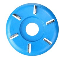 ARC Six-tooth Wood Carving Disc Plane Tool Milling Cutter for 22mm Angle Grinder blue