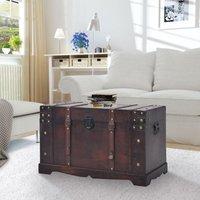 Arceneaux Vintage Wood Treasure Chest by Bloomsbury Market - Brown